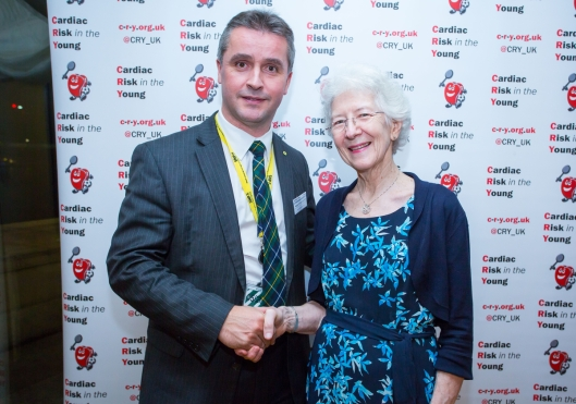Angus B MacNeil MP with Alison Cox MBE