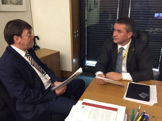 Angus MacNeil MP and Brendan Dick, Director BT Scotland.JPG
