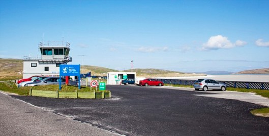 A view of Barra Airport.